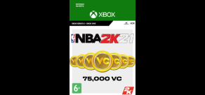 Купить NBA 2K21 (Xbox). NBA 2K21: 75,000 VC (Xbox)